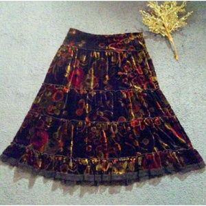 · Cynthia Steffe SIlk Tiered Skirt ·
